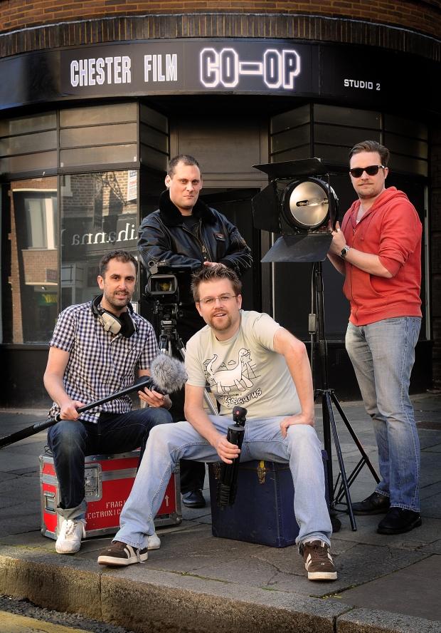 Four of the Film Chester team (L-R) Nathan Head, Dan Fox, Mark Smith and Mark Ellingham