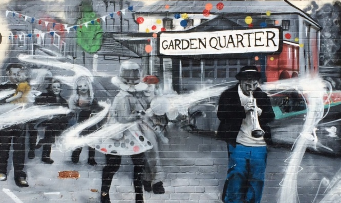 The Garden Quarter mural Pic: P Brand