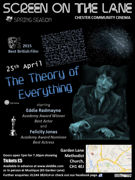 The Screen on the Lane The Theory of Everything poster