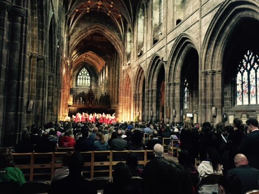 On Chester On is staged in the impressive surroundings of Chester Cathedral  Photo: Angela Ferguson