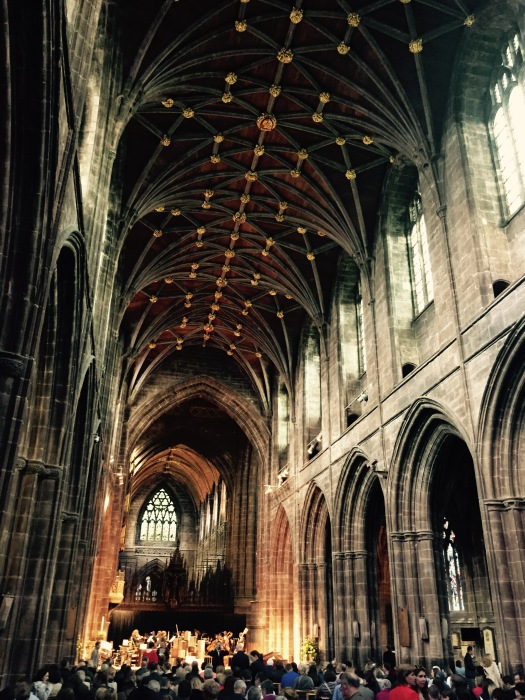 Chester Cathedral's nave came alive to the sound of music at On Chester On   Photo: Angela Ferguson