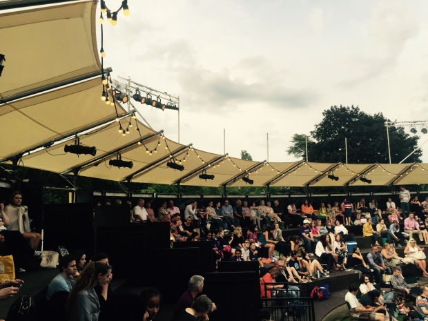 The audience at the Grosvenor Park Open Air Theatre   Photo: Angela Ferguson