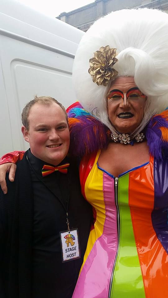 We Are Chester's Matt Poynton with local drag star Shagger Photo courtesy of Matt Poynton