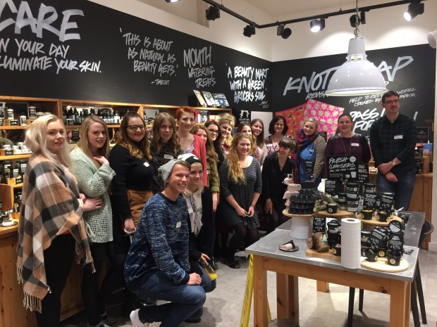 Beauty bloggers at the Lush festive showcase event Photo: We Are Chester