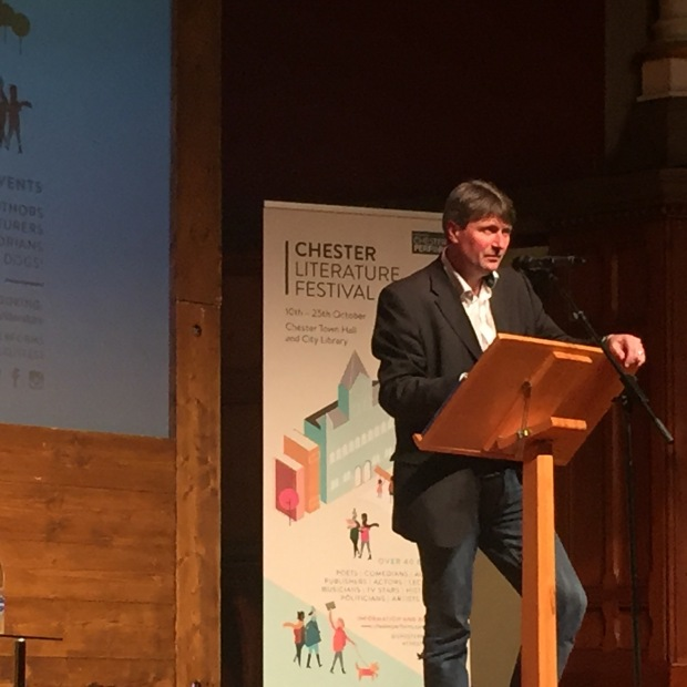 Simon Armitage at the Chester Literature Festival Photo: Angela Ferguson