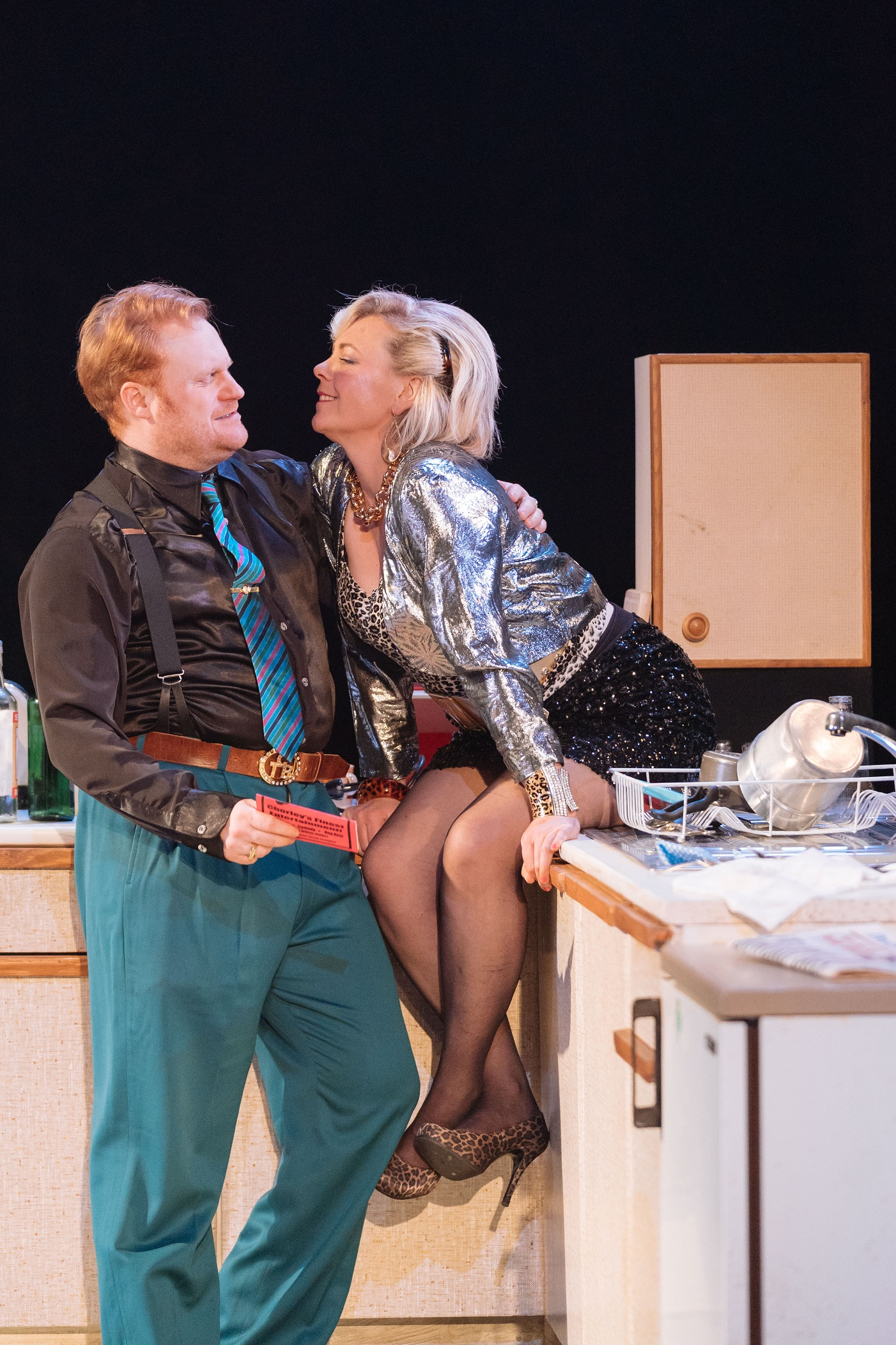 Simon Holland Roberts as Ray Say, Nicola Reynolds as Mari in The Rise and Fall of Little Voice at Theatr Clwyd_p.jpg