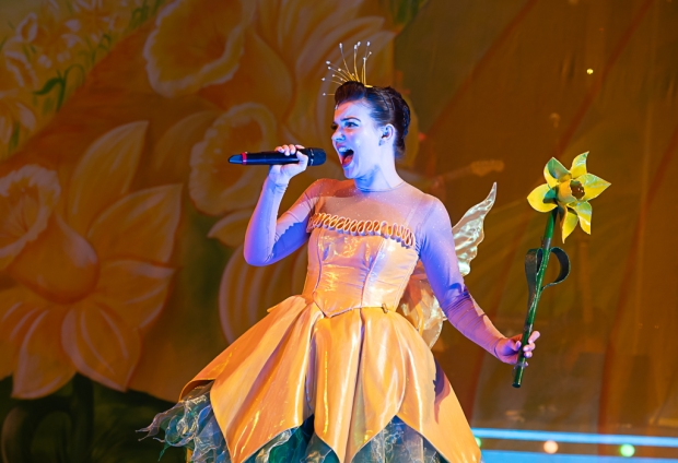 Katie Elin-Salt as Fairy Daffodil. Jack and the Beanstalk the Rock 'n' Roll Pantomime. Theatr Clwyd 2019 (c) Brian Roberts