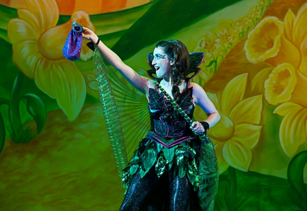 Lynwen Haf Roberts as Poison Ivy. Jack and the Beanstalk the Rock 'n' Roll Pantomime. Theatr Clwyd 2019 (c) Brian Roberts